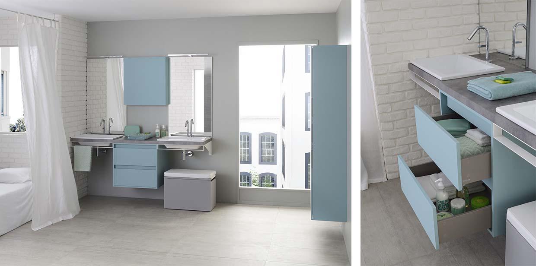 Mix city range contemporary bathroom furniture sanijura for Bathroom furniture quebec